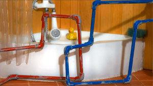 image du film: des tuyaux rouge et bleu
