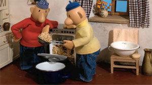 image du film : un lave-vaisselle rempli de bouillie de papier
