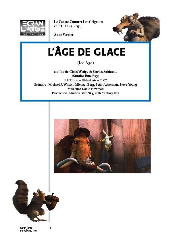 affiche du dossier L'Âge de glace (Ice Age)
