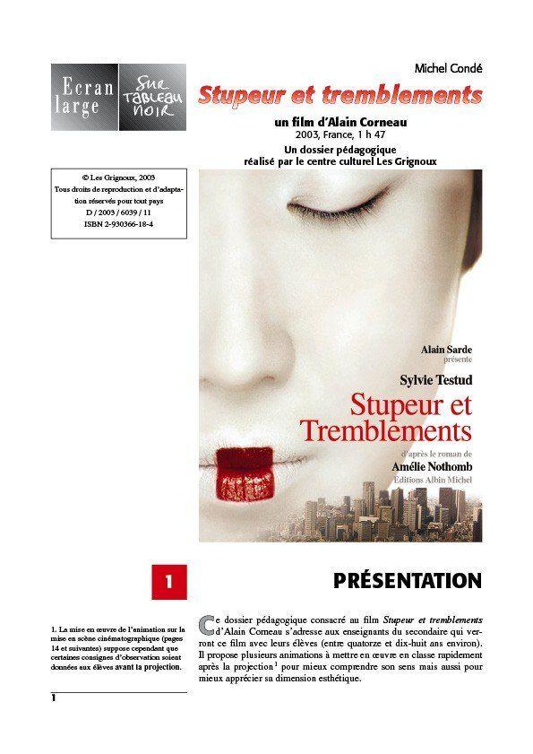 affiche du dossier Stupeur et tremblements