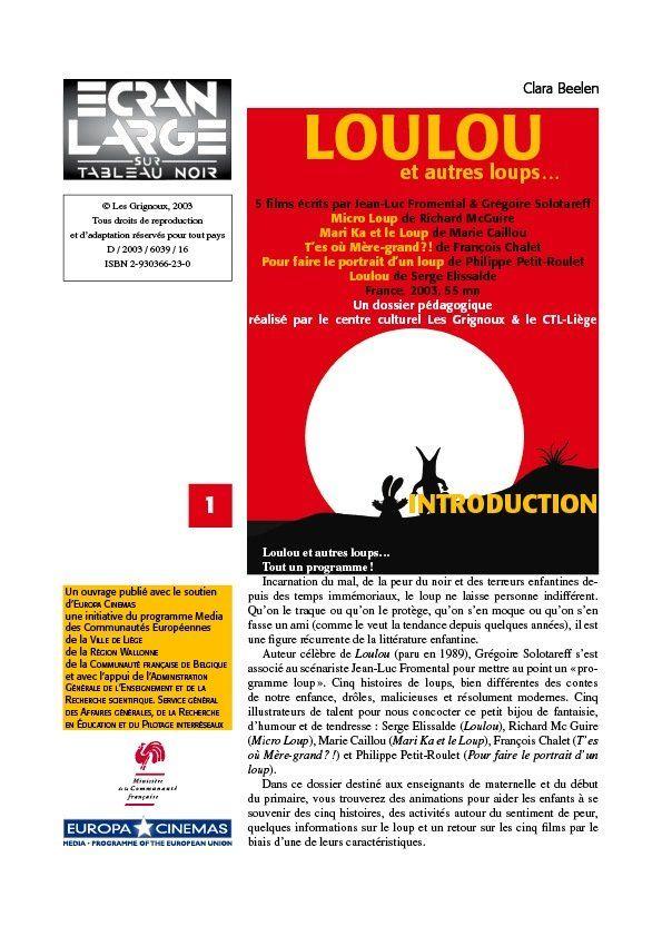 affiche du dossier Loulou et autres loups