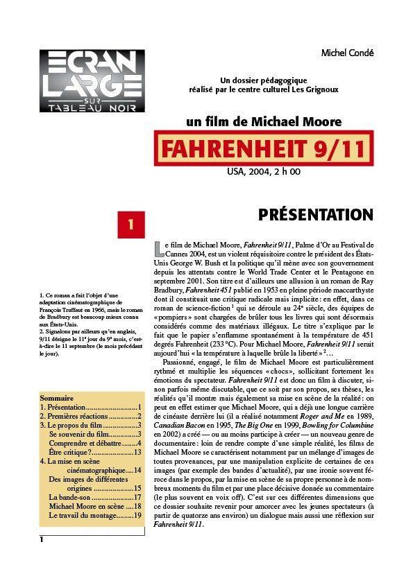 affiche du dossier Fahrenheit 9/11