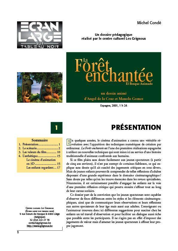 affiche du dossier La Forêt enchantée