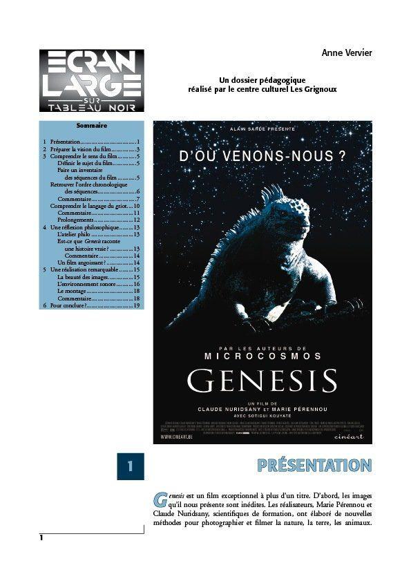 affiche du dossier Genesis