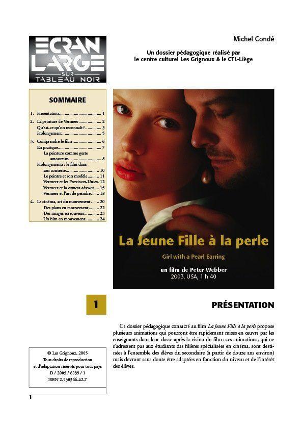 affiche du dossier La Jeune Fille à la perle - Girl with a Pearl Earring