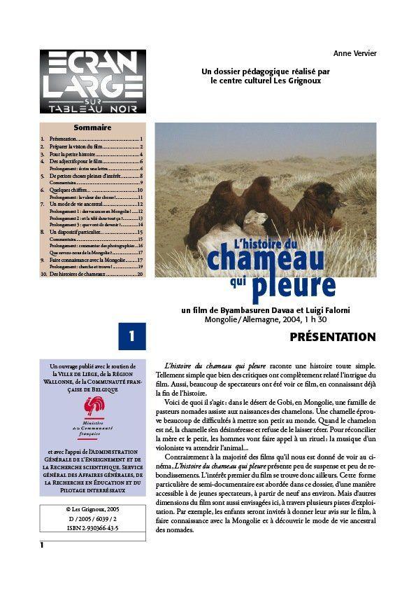 affiche du dossier L'Histoire du chameau qui pleure