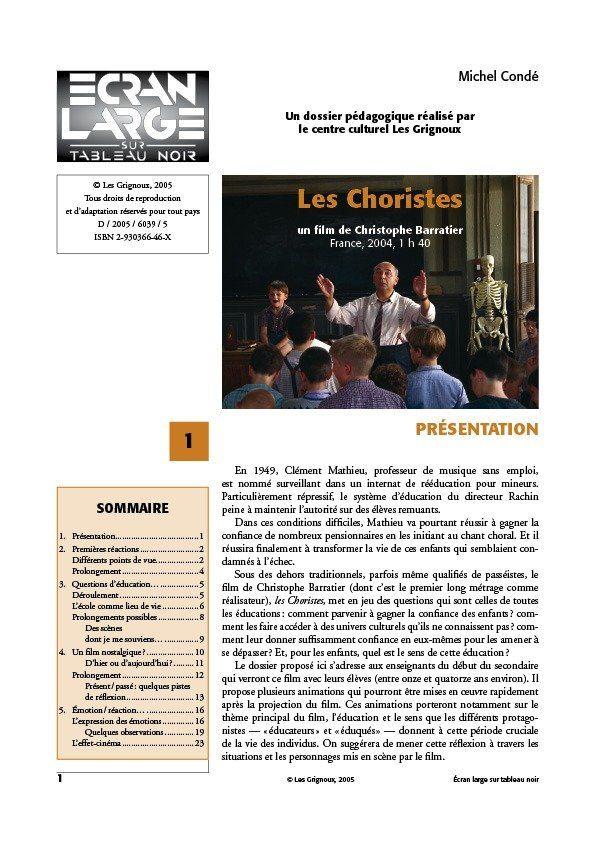 affiche du dossier Les Choristes