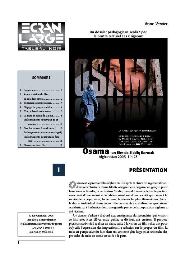 affiche du dossier Osama