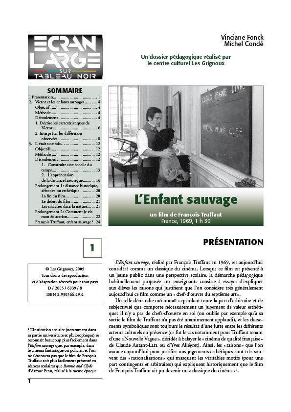 affiche du dossier L'Enfant sauvage