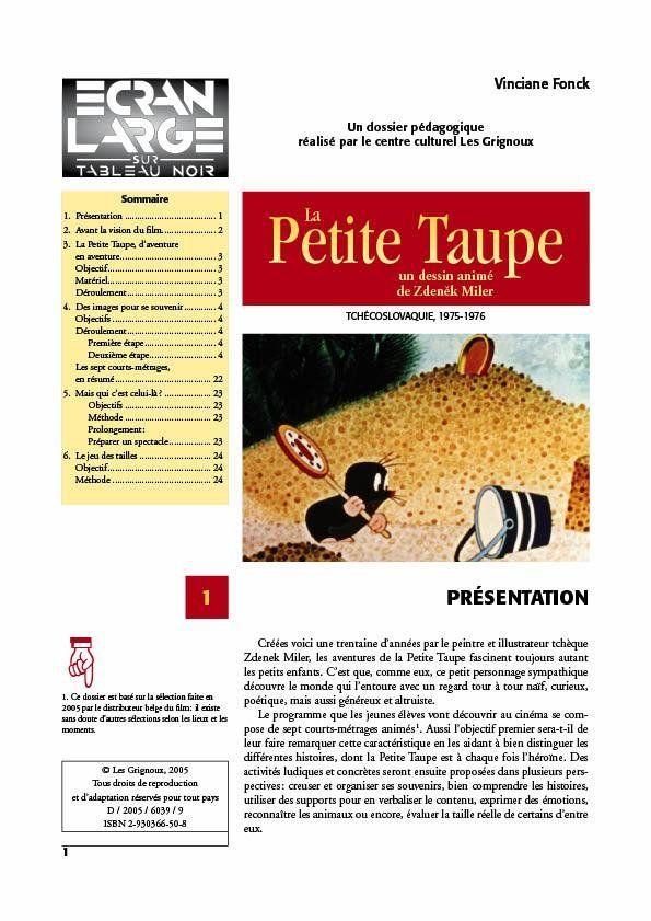 affiche du dossier La Petite Taupe