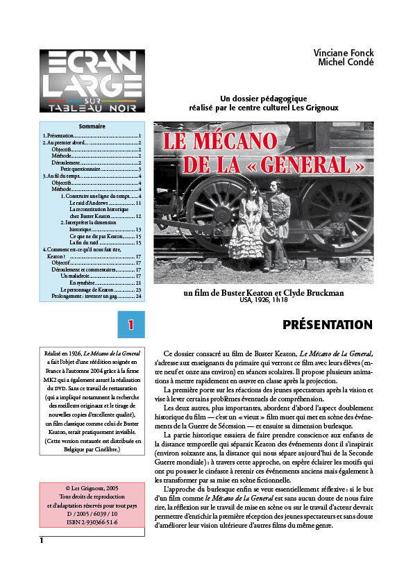 affiche du dossier Le Mécano de la Générale - The General