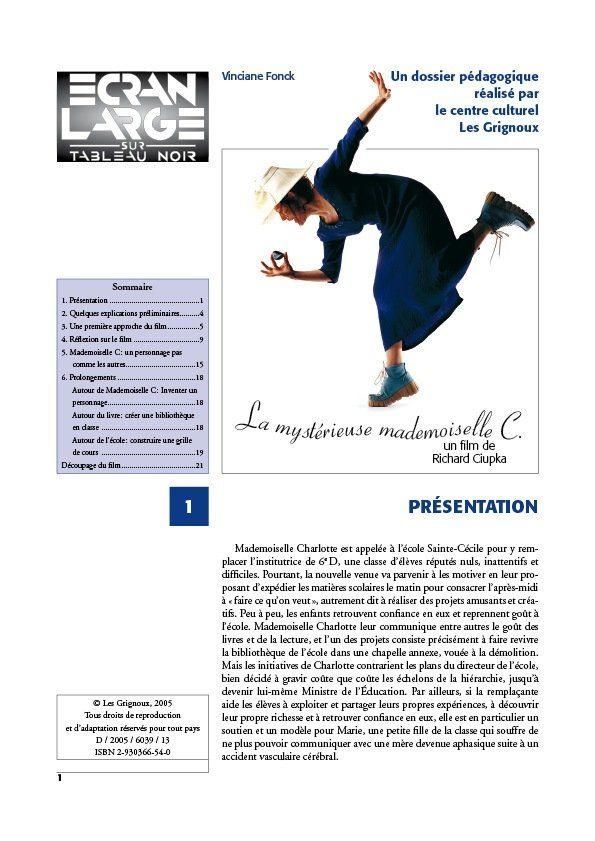 affiche du dossier La Mystérieuse Mademoiselle C