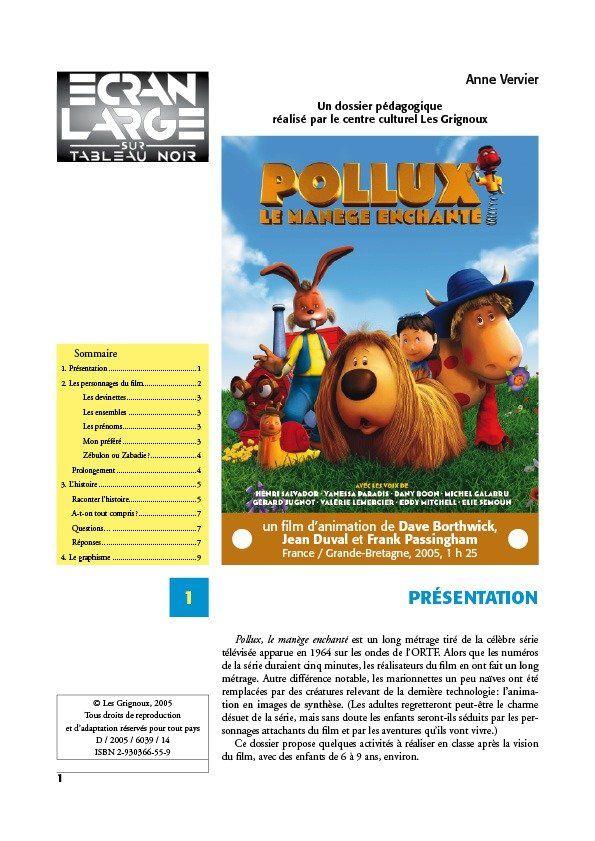 affiche du dossier Pollux et le manège enchanté