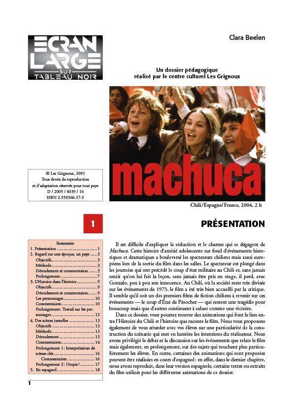 affiche du dossier Machuca