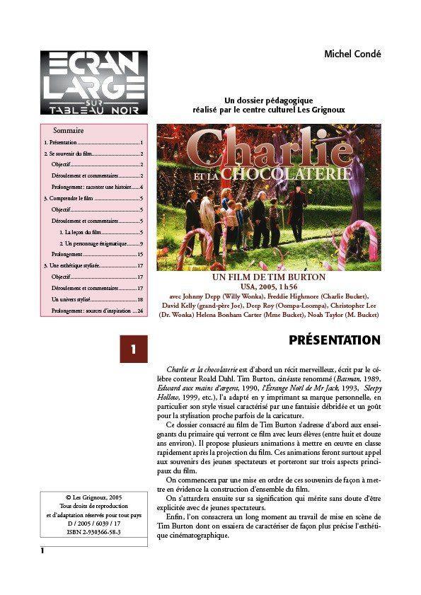 affiche du dossier Charlie et la chocolaterie