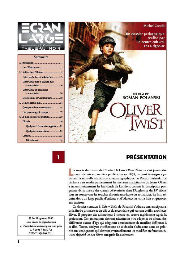 affiche du dossier Oliver Twist