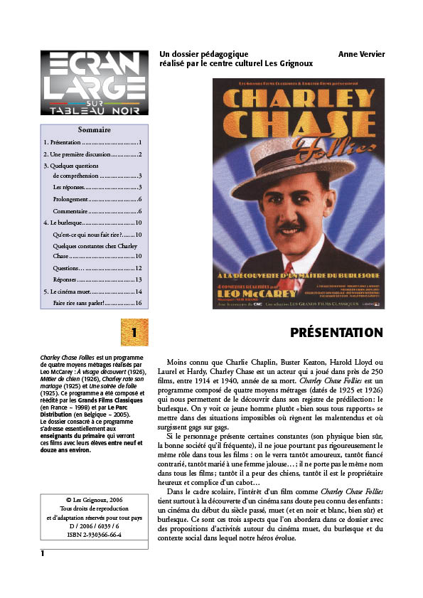 affiche du dossier Charley Chase Follies