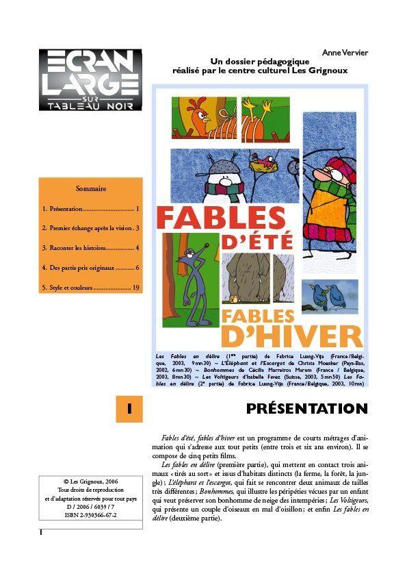 affiche du dossier Fables d'été fables d'hiver