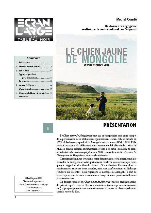 affiche du dossier Le Chien jaune de Mongolie