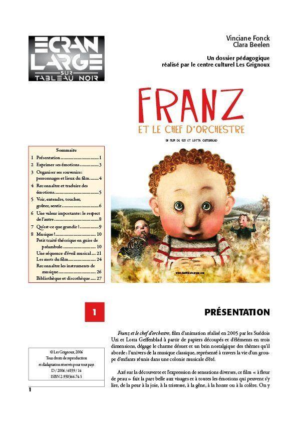 affiche du dossier Franz et le chef d'orchestre