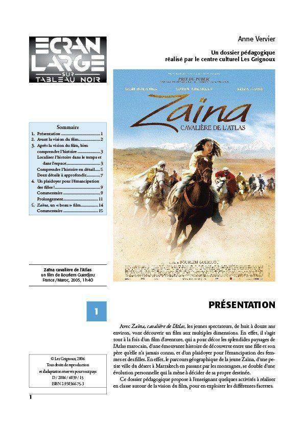 affiche du dossier Zaïna, cavalière de l'Atlas