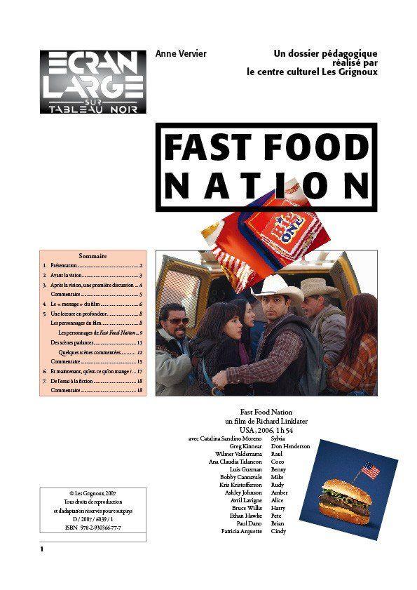 affiche du dossier Fast Food Nation