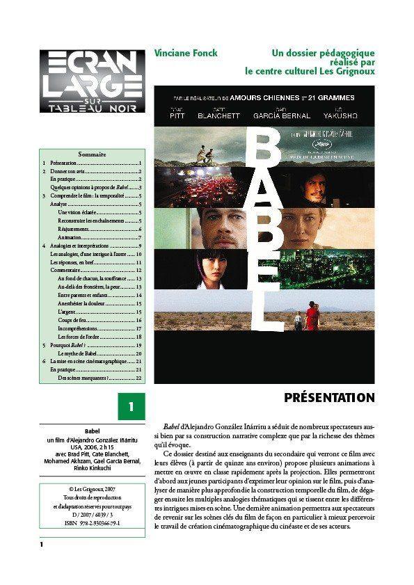 affiche du dossier Babel