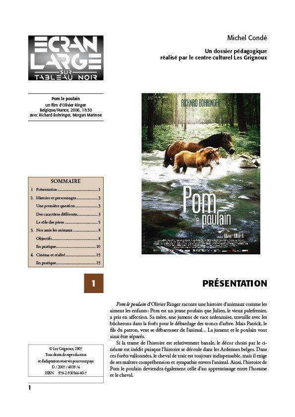 affiche du dossier Pom le poulain