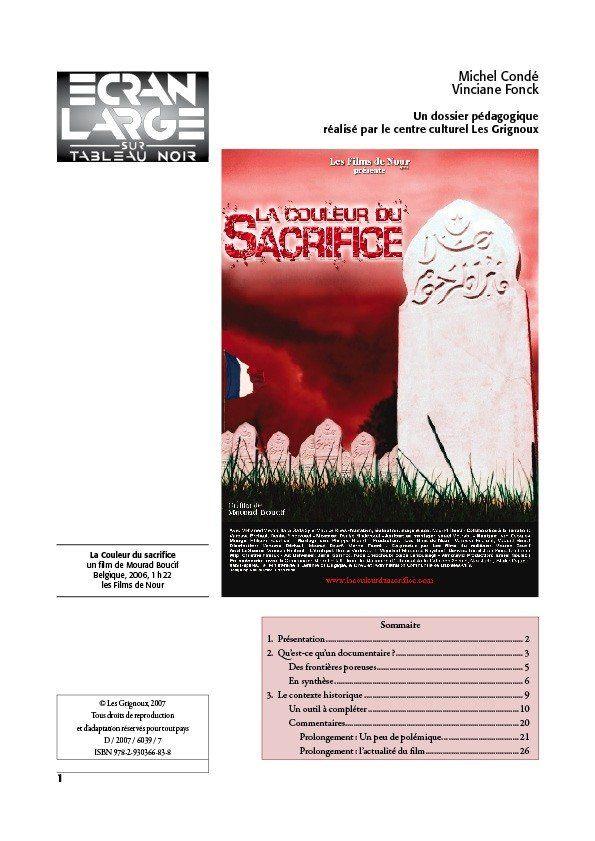 affiche du dossier La Couleur du sacrifice