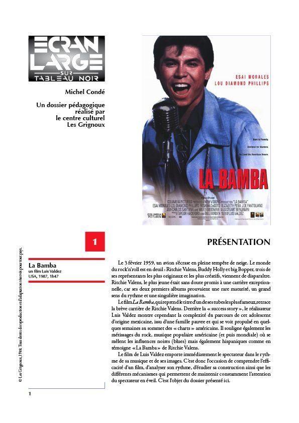 affiche du dossier La Bamba