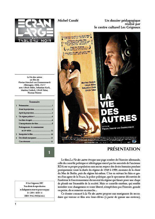 affiche du dossier La Vie des autres (Das Leben der Anderen)
