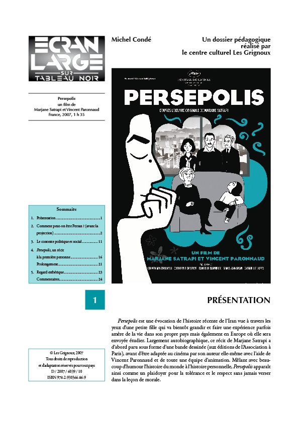 affiche du dossier Persepolis