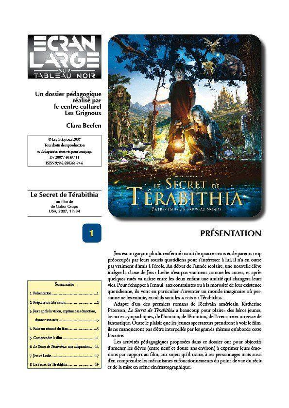 affiche du dossier Le Secret de Terabithia