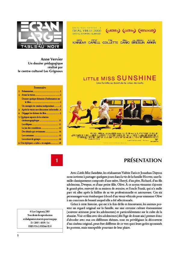 affiche du dossier Little Miss Sunshine