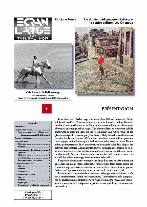 affiche du dossier Crin Blanc & Le ballon rouge