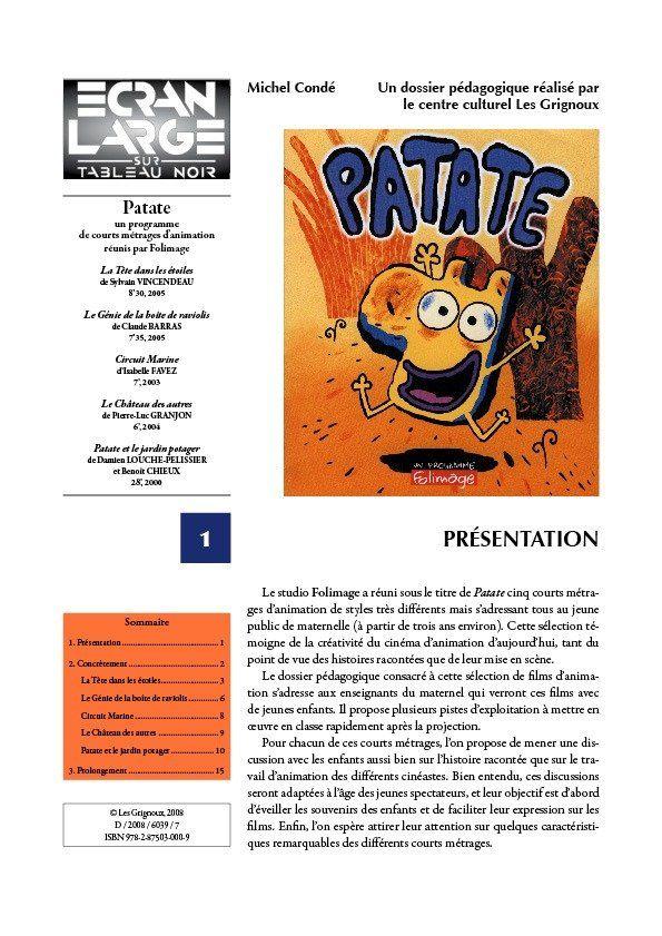 affiche du dossier Patate
