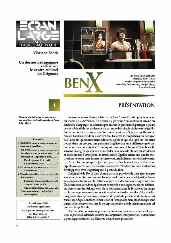 affiche du dossier Ben X