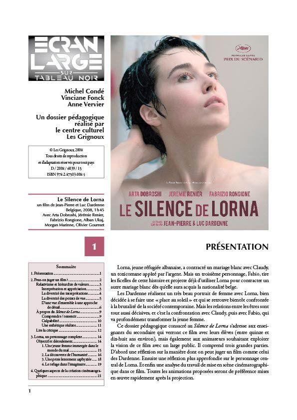affiche du dossier Le Silence de Lorna