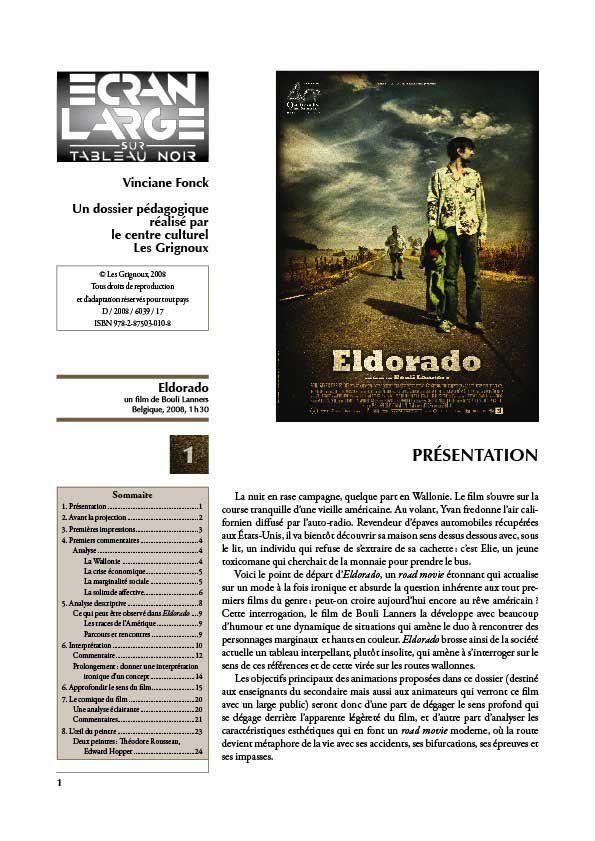 affiche du dossier Eldorado