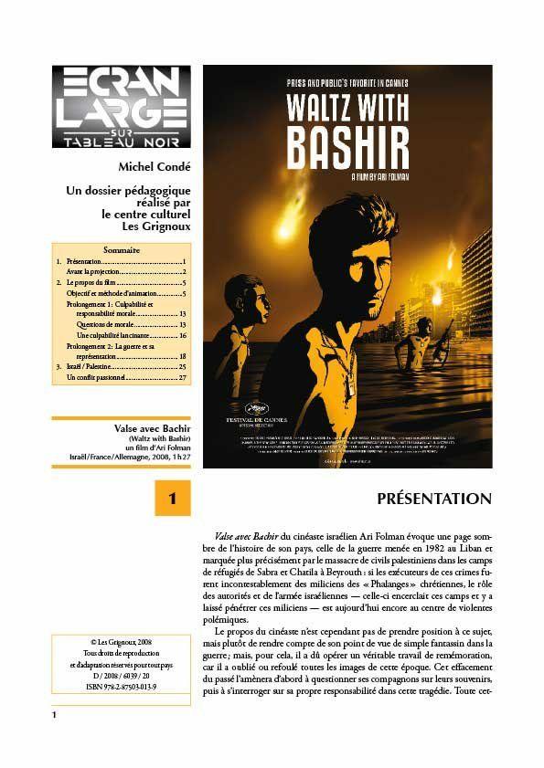 affiche du dossier Valse avec Bachir