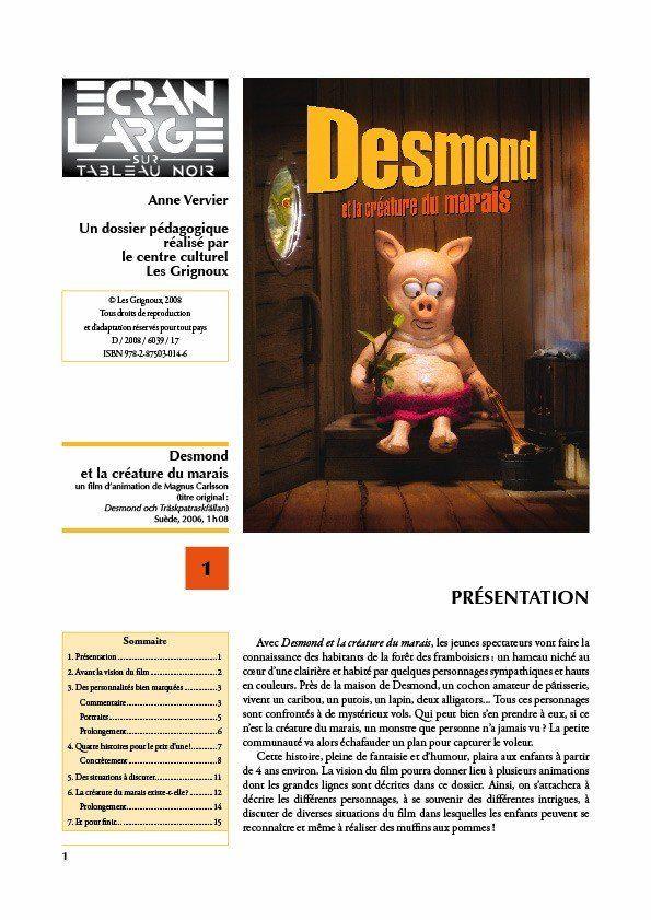 affiche du dossier Desmond et la créature du marais