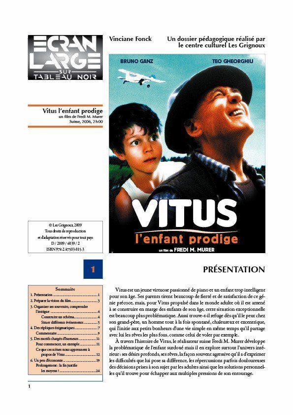 affiche du dossier Vitus, l'enfant prodige
