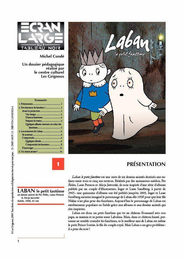 affiche du dossier Laban, le petit fantôme