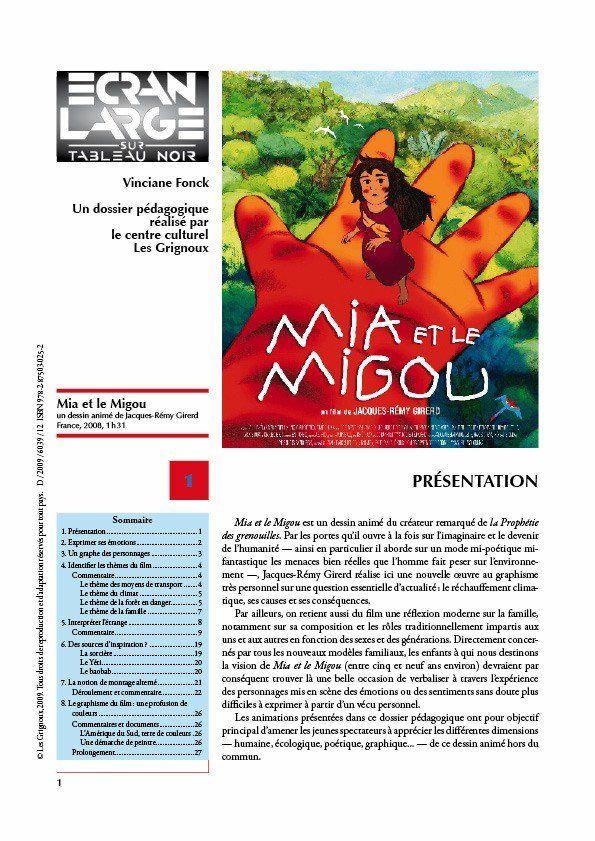 affiche du dossier Mia et le Migou