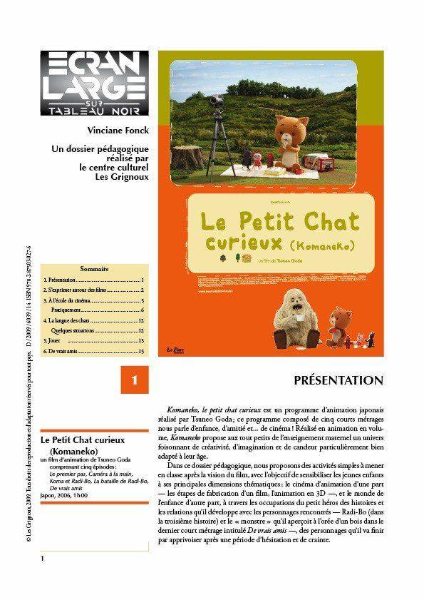 affiche du dossier Le Petit Chat curieux (Komaneko)