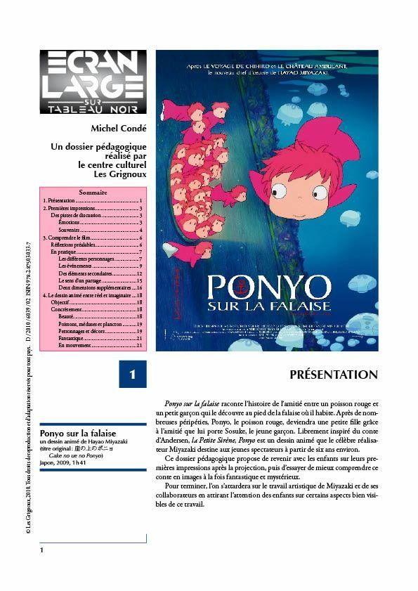 affiche du dossier Ponyo sur la falaise