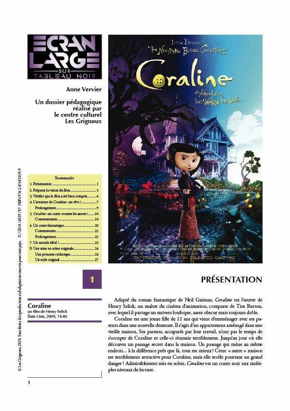 affiche du dossier Coraline