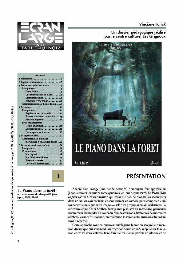 affiche du dossier Le Piano dans la forêt