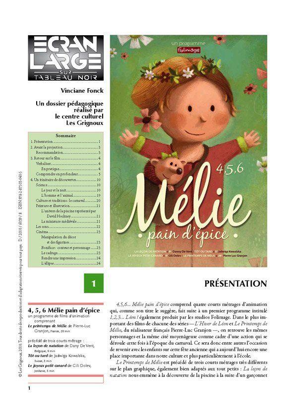 affiche du dossier 4, 5, 6... Mélie pain d'épice