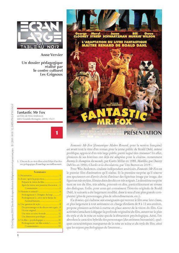 affiche du dossier Fantastic Mr. Fox